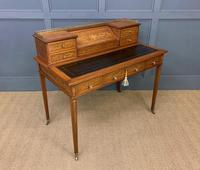 Inlaid Mahogany Writing Desk by Edwards and Roberts