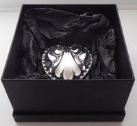 Victorian 1890 Hallmarked Solid Silver Love Heart Jewellery Box Pill Box (11 of 11)