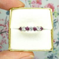 Vintage 18ct Ruby & Diamond seven stone ring ~ 40th wedding Anniversary (10 of 10)