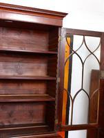 Secretaire Bureau Bookcase Astragal Glazed Mahogany (3 of 17)