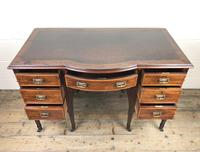 Edwardian Inlaid Mahogany Desk with Leather Top (4 of 11)