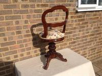 Victorian Rosewood Music Chair (2 of 3)