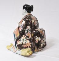 Japanese Kutani Porcelain Statue Male Figurine 1890 (5 of 9)