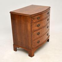 Georgian Style Burr Walnut Chest of Drawers (7 of 12)