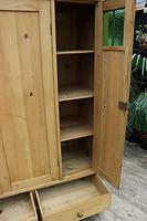 Beautiful Old Pine Triple Knock Down 'Arts & Crafts' Wardrobe  - We Deliver & Assemble! (8 of 18)