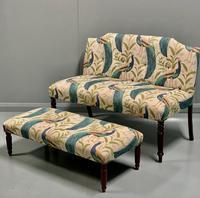 Newly Upholstered Window Seat & Stool
