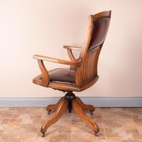 Teak Revolving Office Desk Chair (8 of 17)
