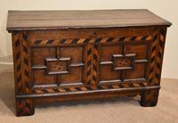 17th Century Oak Geometric Oak Coffer (5 of 8)