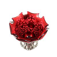 Antique Victorian Sterling Silver & Cranberry Glass Basket 1855 (7 of 11)