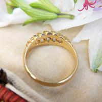 Edwardian 18ct Yellow Gold Five Old Cut Diamond Ring, Antique 1905-1906 (2 of 8)