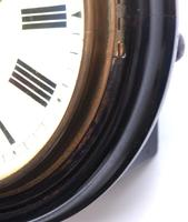 Rare W&H 7 Inch Dial Wall Clock Ebonised Case Dial Clock Station Clock (5 of 12)