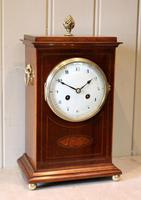 Mahogany Inlaid Mantel Clock (2 of 10)