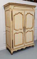 Early French Original Painted Armoire c.1750 (5 of 9)