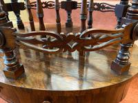 Most Unusual & Very High-quality Rosewood 3-section Canterbury of Oval Shape (2 of 6)