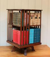 Edwardian Small Proportioned Low Mahogany Revolving Bookcase (5 of 10)