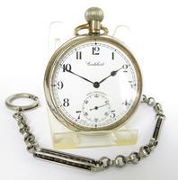 1930s Cortebert Pocket Watch and Chain (2 of 4)