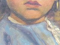Two Oil on Canvas Portraits Little Girls Listed Dutch Artist Jeanne Brandsma (8 of 10)