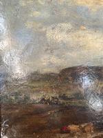 Antique Large Impressionist Landscape Oil Painting in Opulent Frame (6 of 10)