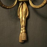 French Set of 4 Gilded Twin Arm Wall Lights (9 of 10)