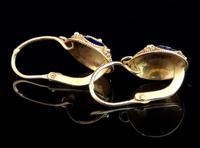 Vintage Russian enamel earrings, silver gilt (3 of 8)