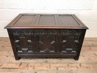 Antique Oak Coffer Blanket Box (5 of 11)