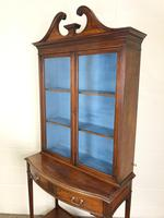 19th Century Glazed Mahogany Bookcase on Stand (9 of 10)