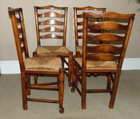 Set of Six (4+2) Ladderback Dining Chairs (4 of 4)
