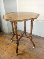 English 19thc Walnut Table. (2 of 7)