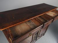 Antique Northern French Carved Oak Side Cabinet (13 of 15)