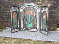 Arts & Crafts Leaded Glass Fire Screen (11 of 14)