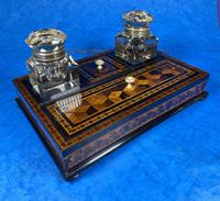 Victorian Rosewood & Tunbridge Ware Inkstand by Thomas Barton (18 of 24)