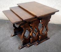 Oak Nest of Three Graduated Tables by GT Rackstraw Furniture (5 of 9)