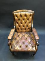 19th Century Rosewood Library Chair (6 of 10)