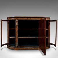 Antique Credenza, English, Burr Walnut, Sideboard, Display Cabinet, Regency (3 of 12)