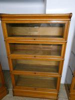 Set of Four Oak Globe Wernicke Bookcases (2 of 11)