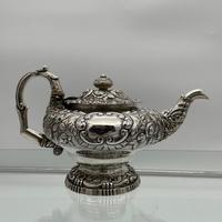 Antique George IV Sterling Silver Teapot London 1824 John Craddock & William Reid (2 of 11)