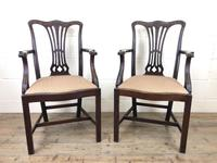 Pair of 19th Century Chippendale Style Armchairs (3 of 11)