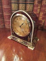 Antique Chinioserie Tortoiseshell Gilt Mantel Clock (2 of 12)