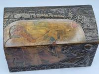 Antique Russian Wood Box with Basma Abramtsevo - Very Large (11 of 13)