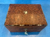 Victorian Burr Cedar Jewellery Box (3 of 11)