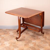 Inlaid Mahogany Edwardian Sutherland Table (12 of 19)