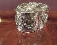 Antique Cast Silver Shaped Table Box (5 of 8)