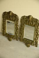 Pair of Brass Wall Mirrors (8 of 10)