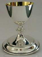 Rare Large English Solid Sterling Silver Travelling Goblet Chalice 1949 (2 of 12)