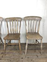 Set of Four Antique Farmhouse Kitchen Chairs (13 of 14)