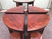 Edwardian Mahogany Round Nest of 5 Tables (9 of 9)