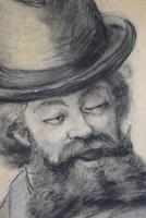 19th Century Charcoal Drawing Bearded Gent (9 of 10)
