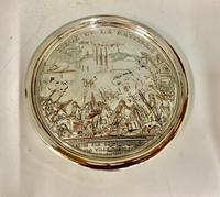 Antique 19th Century French Silver Plated Snuff Box Siege of the Bastille Snuff Box (2 of 6)