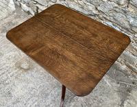 Georgian Oak Rectangular Tilt Top Occasional Table (5 of 16)