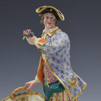 Fine Pair Minton Porcelain Sweetmeat Figures with Baskets Models 84 & 85 c.1830 (18 of 23)